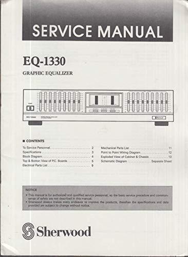 (ORIGINAL Service Manual: Sherwood Model EQ-1330 Graphic)