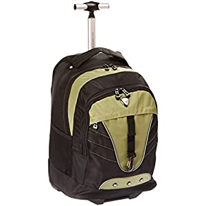 CALPAK Night Vision Olive 18-inch Rolling Multi-compartment Backpack