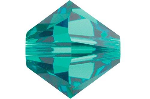 (Swarovski Crystal Bicone 5328 / 5301 6mm BLUE ZIRCON Beads (20) 524029)