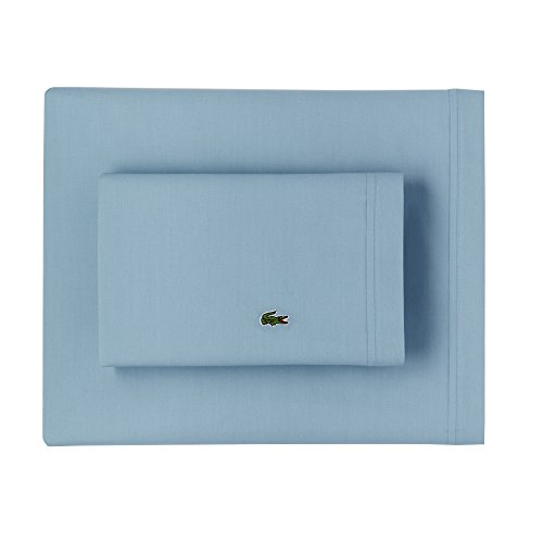 Cameo Cover Set (Lacoste 100% Cotton Percale Sheet Set, Solid, Cameo Green, Full)