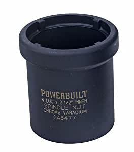 Powerbuilt 648477 Spindle Nut Socket 1 Ton, Four Inner
