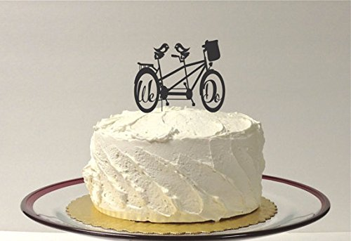 Price comparison product image Tandem Bicycle Wedding Cake Topper Bike Cake Topper We Do Wedding Cake Topper Mountain Bike Cake Topper Cyclist Cake Topper