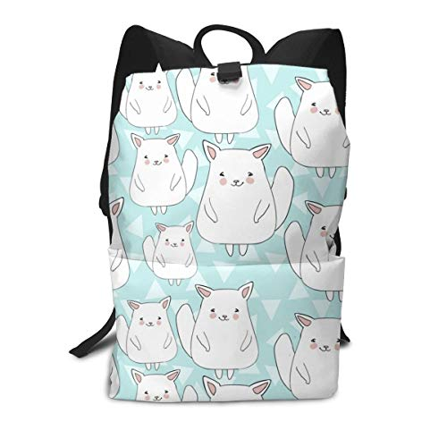 Climbing Picnic Running Backpack Daypack Durable Polyester Anti-Theft Multipurpose Rucksack Large Capacity Bookbag, Girls Lovely Chinchillas