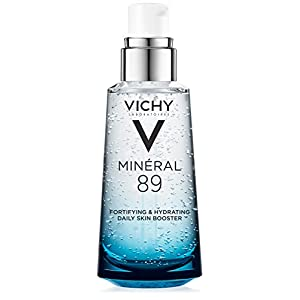 Vichy Minéral 89 Hyaluronic Acid Serum Moisturizer Daily Skin Booster to Hydrate, Plump, and Fortify Skin, 1.69 Fl. Oz.