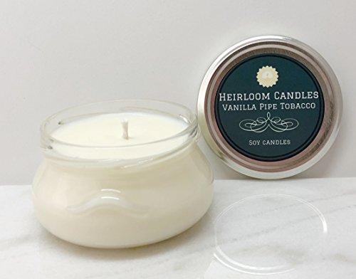 Vanilla Pipe Tobacco Soy Candle - Vegan - Handmade, 6oz (Santas Pipe)