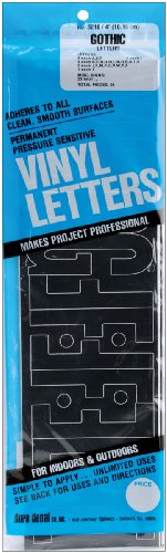 Graphic Products Permanent Adhesive Vinyl Letters, 4-Inch, Black, 95-Pack