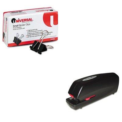 KITSWI48200UNV10200 - Value Kit - Swingline Portable Electric Stapler (SWI48200) and Universal Small Binder Clips (UNV10200)