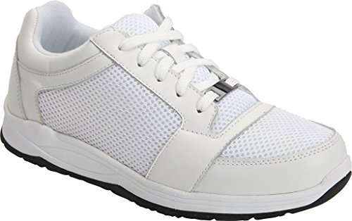 Drew Shoe Womens Gemini Leather, Mesh, Rubber, Fashion Sneakers White Leather / White Mesh