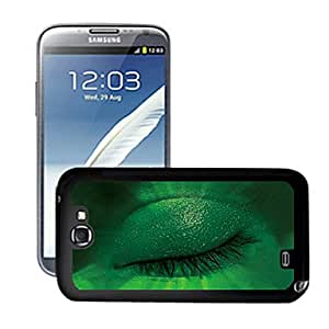 RC - Blazing Colour Green Eyes Pattern 3D Effect Hard Case for Samsung Galaxy Note II N7100