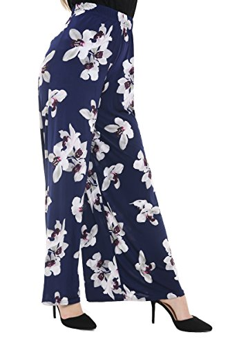 Generic Donna Generic Pantaloni Navy Pantaloni Floral Tfq5wnx7Hq