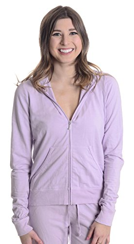 Juicy Couture Women's Logo French Terry Hoodie, Violet, Medium (Juicy Couture Hooded Terry)