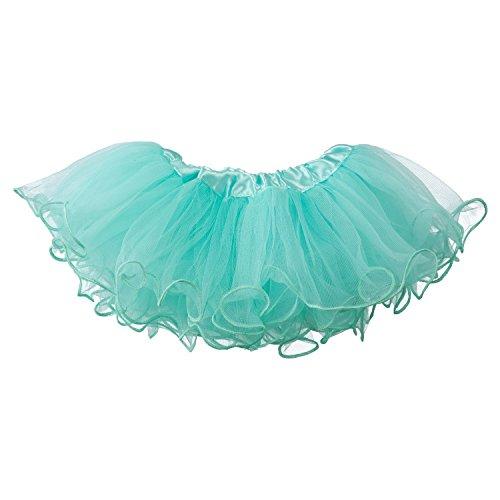 uffled Scallope Edge Skirt 5-Layer (newborn - 3mo.) Aqua (Aqua Ruffled Skirt)
