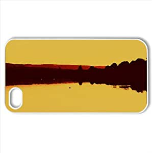 Golden Dusk Lake Watercolor style Cover iPhone 4 and 4S Case (Lakes Watercolor style Cover iPhone 4 and 4S Case)