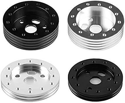 sahnah Universal Car Spacer 0.5 1 Hub Car Styling 6 Hole to 3 Holes Steering Wheel Padding Higher Slice Aluminum Alloy Adapter