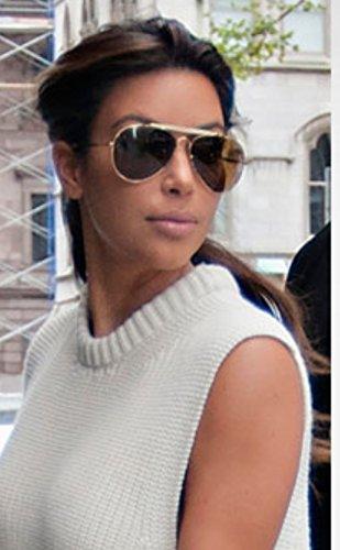 01944856ef Celine Polarized Gold Aviator Sunglasses White pilot 41490 S Kim kardashian  celebrity