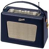 【ROBERTS RADIO】英国 ロバーツラジオ R550 レザークロス ブルー (ヴィンテージ ホワイトパネルモデル)