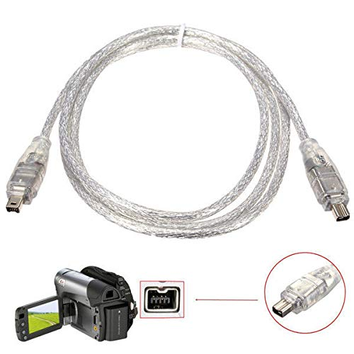 IEEEA 1394 4 Pin Male to 4 Pin Male FireWire DV Cable Converter 5055527532263