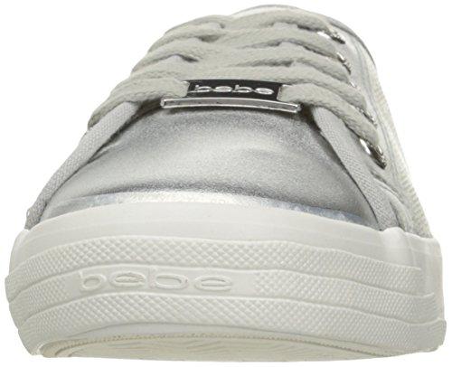 Bebe Femmes Dane-l Mode Sneaker Argent Faux
