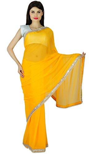 (Ethnic Party Wear Fashion Sari Designer Georgette Wedding Saree Dress Gift For Her)