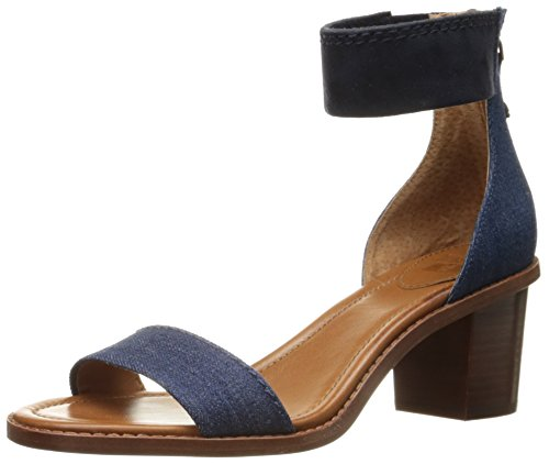 FRYE Women Brielle Back Zip Dress Sandal Denim-73602