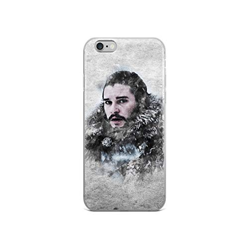 iPhone 6/6s Case Anti-Scratch Phantasy Imagination Transparent Cases Cover John Snow Game of Thrones Watercolor Painting Fantasy Dream Crystal Clear