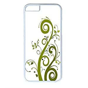 Plant Vector Design White PC Case for Iphone 6 Green