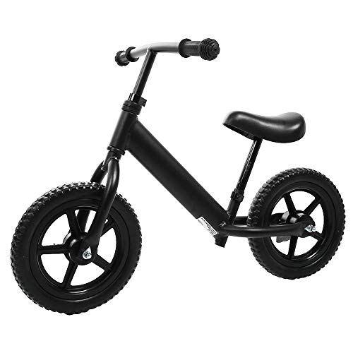 Balance Bike No Pedal Children Bicycle Walking Bike for 3-6yrs Kids with Aluminium Alloy Frame + EVA Foam Tire