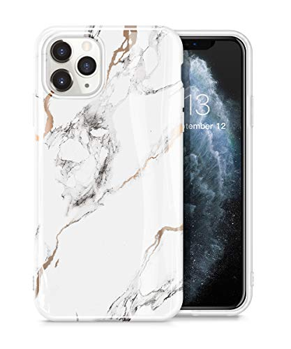 GVIEWIN Marble Case Compatible with iPhone 11 Pro Max, Slim Thin Glossy Soft TPU Rubber Gel Phone Case Cover Compatible…