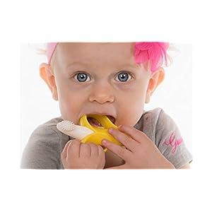 Baby Banana Infant Training Toothbrush and Teether, Yellow