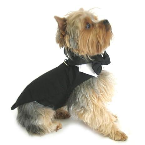 Amazon.com : Black Dog Harness Tuxedo w/Tails Bow Tie Cotton Collar