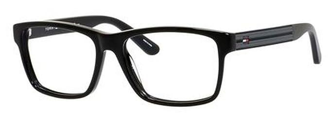 Amazon.com: Tommy Hilfiger 1237 Eyeglasses-0KUN Black -54mm: Clothing