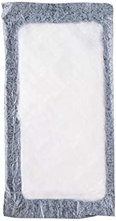 """2000 Case 4/"""" x 7/"""" White 50 Gram Absorbent Pad Meat Fish Poultry Pad Polyethylene"""