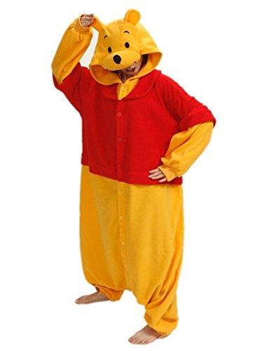 Sweetdresses Adult Unisex Animal Sleepsuit Kigurumi Cosplay Costume Pajamas (X-Large, Winnie Pooh) (Winnie The Pooh Costumes For Adults)