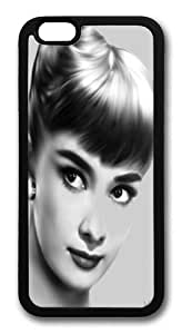 Audrey Hepburn Drawing TPU Silicone Case Cover for iPhone 6 4.7 inch Black