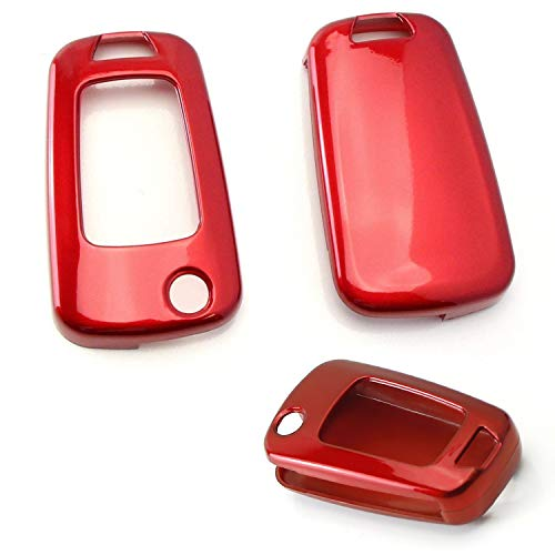 (iJDMTOY Exact Fit Glossy Red Smart Key Fob Shell Cover for Chevrolet GMC 3 4 or 5 Buttons Folding Key Fob (Camaro Cruze Malibu SS Spark Volt, etc))