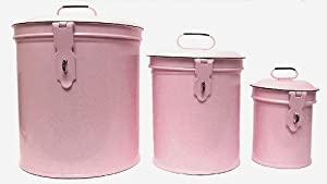 pink canisters kitchen vintage style canister set kitchen storage 14554