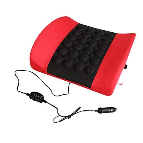 Masaje eléctrico Cojín Soporte para la cintura Volver Soporte para la postura lumbar Almohadilla para la parte posterior...