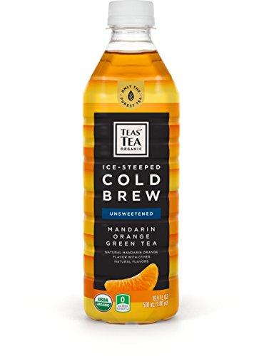 Teas' Tea Organic Cold Brew Green Tea, Mandarin Orange, 16.9 Ounce, 12 Count