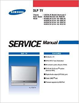 samsung hlr6167w1x hlr5667w1x tv service manual
