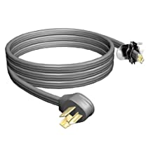 STANLEY 31901 3-Wire 30 Amp 4-Foot Replacement Cord, Grey