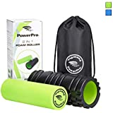 PowerPro 2-in-1 Foam Rollers. Trigger Point Foam Roller Plus Smooth Muscle Roller. Ideal for Injury Rehab,Chronic Back Pain, Shin Splints, Lactic Acid & Migraines 2 x Ebooks & Carry Case