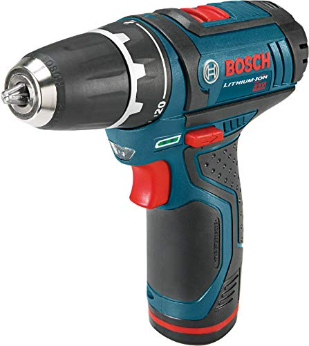 "Bosch Power Tools Drill Kit - PS31-2A - 12-Volt, 3/8"", Two Speed Driver, Cordless Drill Set - Includes Two Lithium Ion Batteries, 12V Charger, Screwdriver Bits and Soft Carrying Bag"