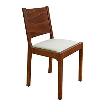 Schön Set 2 Stühle Esszimmerstuhl Stuhl RONI Buche Holz Braun Bezug Abnehmbar