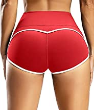 CFR Womens Sexy Workout Shorts Scrunch Booty Peach Butt Lifting Anti Cellulite Squat Proof Hot Pants