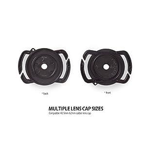 Camera Lens Cap Buckle Anti-Lost Holder Keeper and Camera Lens, Camera anti-loss len leash included (72mm-77mm) (Tamaño: 72mm-77mm)