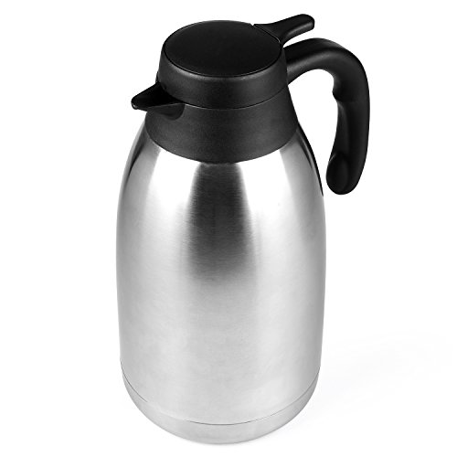 68 Oz Stainless Steel Thermal Coffee Carafe/Double Walled Vacuum Thermos / 12 Hour Heat Retention / 2 Litre by Cresimo by Cresimo (Image #7)