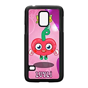 Luvli Black Hard Plastic Case Snap-On Protective Back Cover for Samsung? Galaxy S5 Mini by Moshi Monsters + FREE Crystal Clear Screen Protector