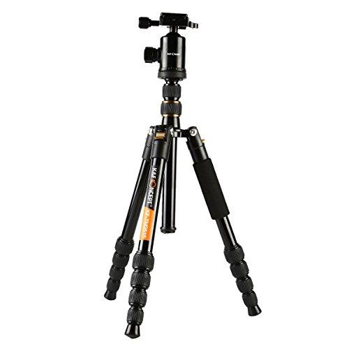 Stativ Reise K&F Concept® Stativ Kamera,Reisestativ Leicht,Stativ Dreibein,Leicht Stativ für Canon Nikon Sony Kamera mit 3D-Kugelkopf und Einbeinsativ-Funktion