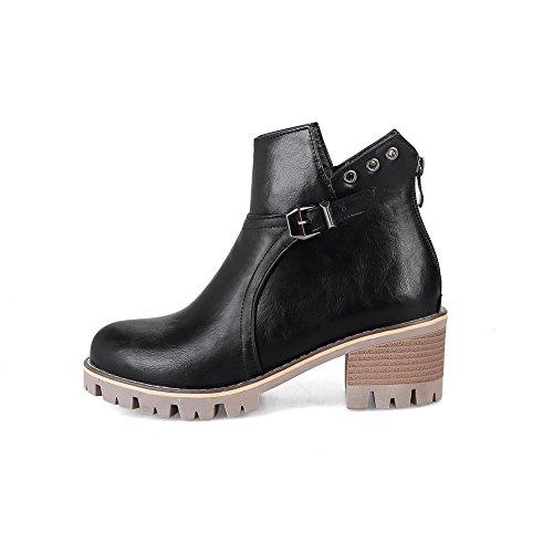 Urethane BalaMasa Resistant Boots Platform Black ABL10111 Womens Slip Buckle AACHqg