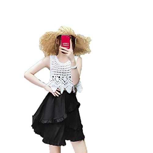 Kilt Nero Kawei Balze Estive Versione Larghi Arcobaleno Campana 2018 Monocolore A Gonne College Alto Nuovo Elasticizzati Divertenti Coreana 8w0PnOk